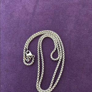 """David Yurman 20"""" Small Box Chain Necklace 14k Logo"""